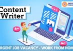 Urgent content writer Job Vacancy - Work from Home